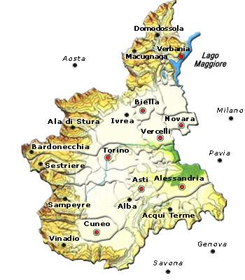 Cartina Dettagliata Piemonte.Regione Piemonte