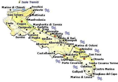 Cartina Puglia Con Province.Regione Puglia