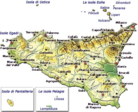 Cartina Sicilia Comuni.Palermo Cartina Sicilia